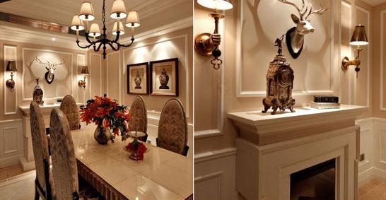 火星建筑 设计案例  餐厅设计   壁炉可以说是欧式风格的标志,设计师