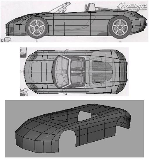工业设计 maya打造保时捷汽车流程解析 高清图片