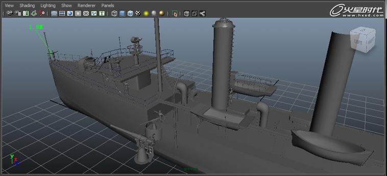 三维技术教程:maya教程:中山舰制作流程1-模型篇