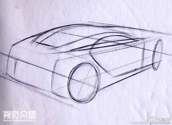 工业设计教程:透视与汽车草图教程(三) | 经验频道