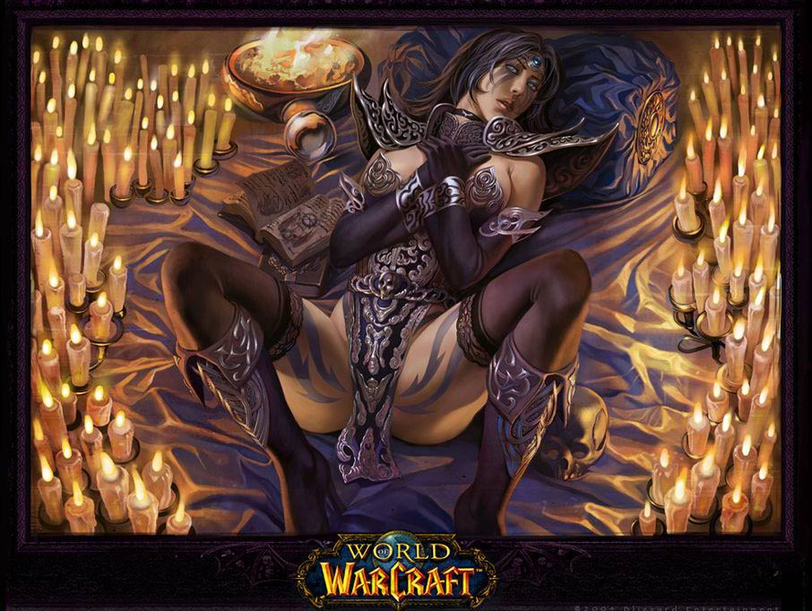 黑暗王朝作品:超精美魔兽美女手绘合集