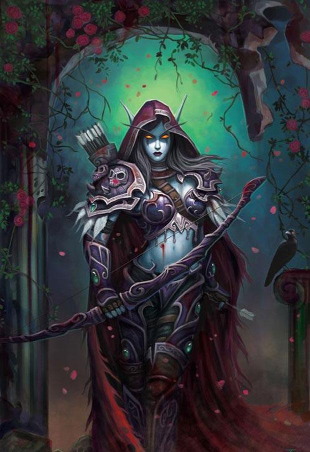 《魔兽世界》黑暗女王希尔瓦纳斯原画赏