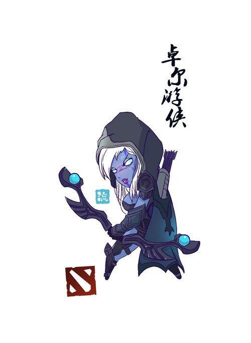 《dota2》玩家手绘q版萌英雄 巫妖变身神灯