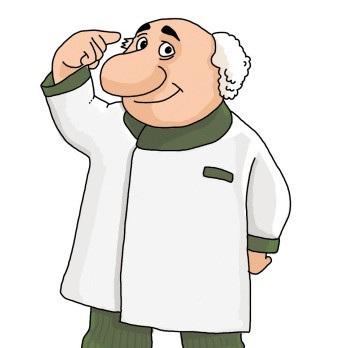 抠图背景素材 卡通人物 博士