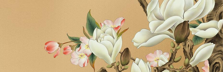 工笔花卉插画手绘