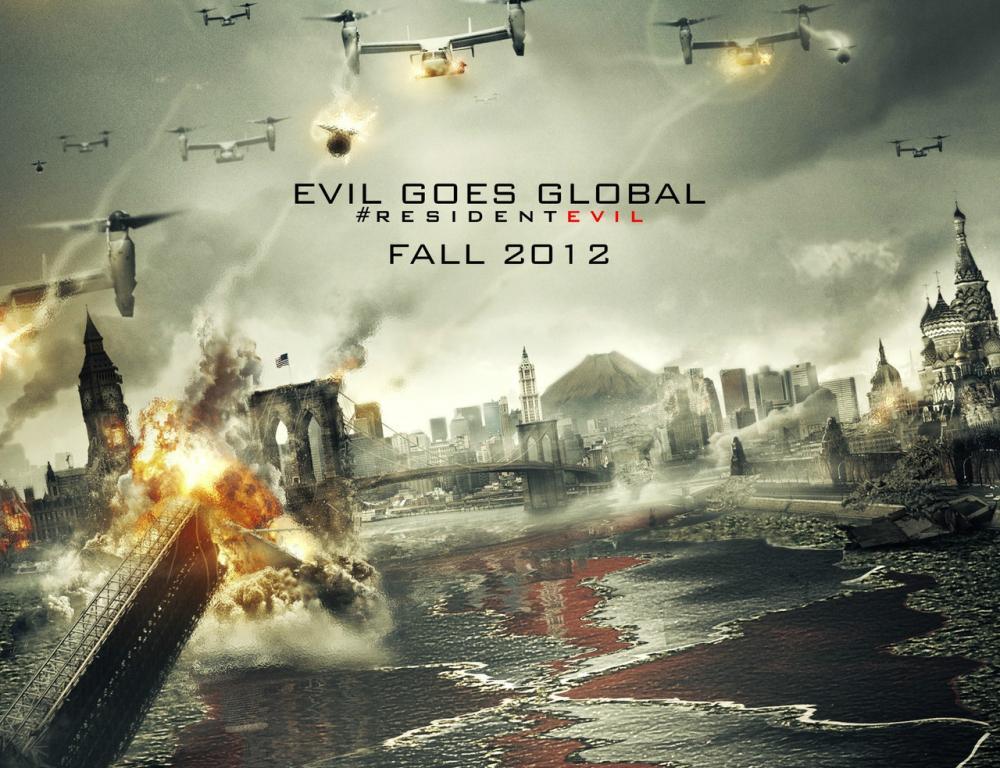 电影海报|生化危机5