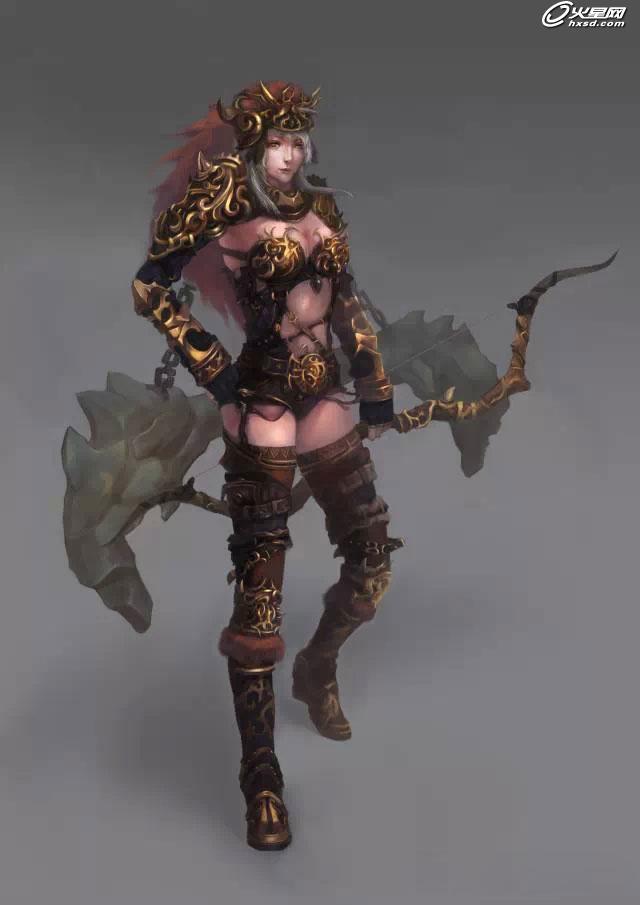 游戏设计教程:游戏原画角色设计---女弓手