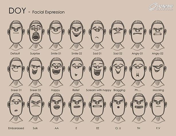 3d立体卡通矢量表情